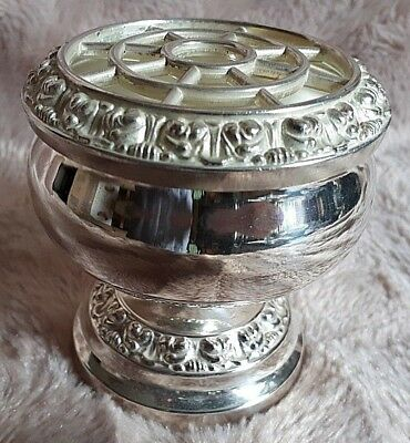 Vintage silver plated small rose/posy bowl by IANTHE