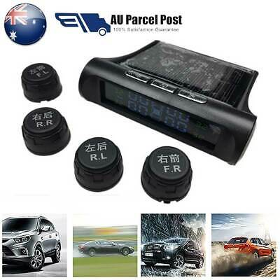 AU Wireless Solar TPMS Car Tire Tyre Pressure Monitoring System External 4Sensor