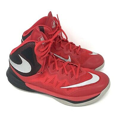 a113bc57a740 Nike Prime Hype DF II Basketball Sports Shoes Mens 7.5 RED BLACK 806941 600