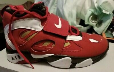 8ba9dbdd4dba Nike Air Diamond Turf 2 II Varsity Red Gold 487658-610 Size 5.5 Deion
