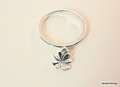 afed7522f New/Tags Authentic Pandora Silver Ring Dangling Clover #197938 Multiple  Sizes