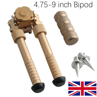 4.75-9 inch Bipod Hunting Foldable Tactical Picatinny Rail Flat Adjustable Tan