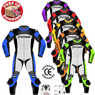 Motorbike suit Mens Motorcycle CE Approved Armour Leather Biker Racing Suits