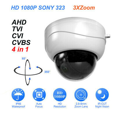 1080P HD PTZ 3XZoom Motorized 4 in 1 AHD/TVI/CVI/Analog Dome Outdoor Camera CCTV
