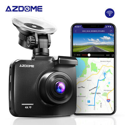 AZDOME HD 4K DashCam Autokamera GPS WIFI Weitwinkel Video Recorder + Rear Kamera