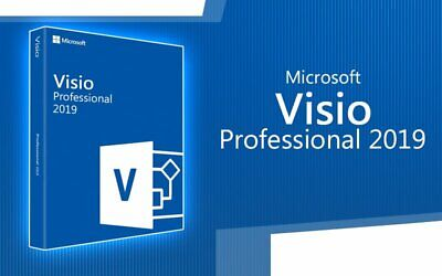 Microsoft Visio 2019 Professional Pro Original License Key