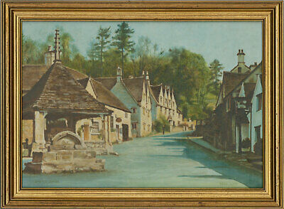 Doris Lloyd - Signed & Framed Mid 20th Century Oil, Castle Combe, Wiltshire