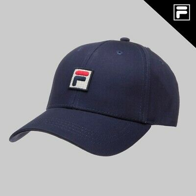 1651fbd1b FILA VINTAGE CAP Embroidered Logo Flex Baseball Cap Black/White ...