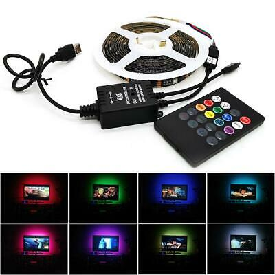 1m Music Sound Activated USB RGB 5050 LED Strip Light Waterproof Smart  Control