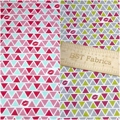 Cotton Jersey Fabric Material Kisses For You 147cm 2 Colours Available 3275