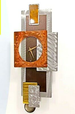 POPULAR PENDULUM ART CLOCK  Modern Metal Art Silver Golden Brown Decor Jon Allen