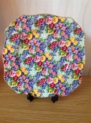 ROYAL WINTON Chintz Plate 'Julia'. Limited Edition Excellent Condition