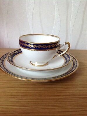 ROYAL ALBERT CROWN CHINA 'Pattern 5286' Cup, Saucer & Plate Trio, Excellent Cond