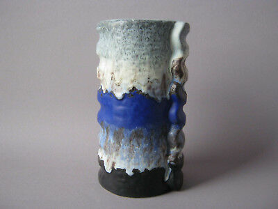 Duemler & Breiden Keramik Vase Relief Polar d b Fat Lava German Pottery ceramic