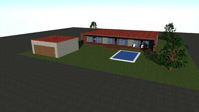 Single house plans (160 sq meters - 1722 sq feet)