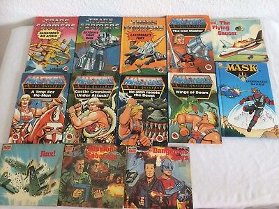 He Man Books ~ Transformers Books ~ Action Man Books 1980,s