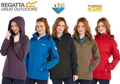 Regatta Ladies Insulated Waterproof Jacket Coat Womens