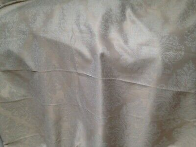 3 Mts  Italian Medallion Damask Curtain Sateen Brocade Fabric In Neutral