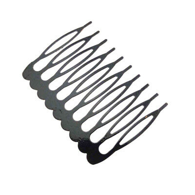 5X(Set Of 10Pcs Metal Hair Combs Accessory  Hairdressing Beauty Piece Baby ChE6)