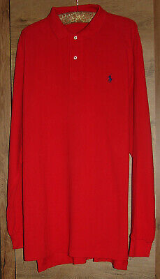 Genuine POLO by RALPH LAUREN Men's Long Sleeves T-Shirt, Colour Red, Size XL/EG