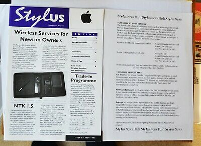 Stylus - Assist Club Magazine for Apple Newton Users, Issue 6, July 1995 + flyer