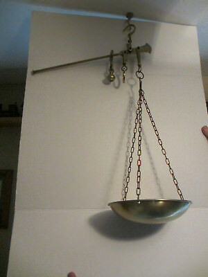 Antique Brass Hanging Balance Scale  #1