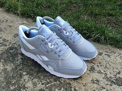 d2ce7fab30b23 Reebok Classic Nylon Unisex Trainers Grey  Cool Shadow  BS9376 NEW BOXED ...