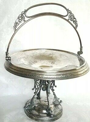 Antique Rogers. Smith&Co New.haven 1820 Silverplated Brides Basket Ornate Design