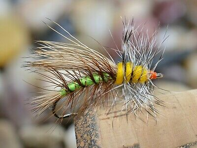 12 Flies Brown Winged Olive Dry Fly Mustad Fly Fishing Hooks D570