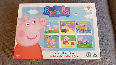 DVD Boxset Peppa Pig Selection Box New Sealed Some Damage inc Bubbles New Shoes