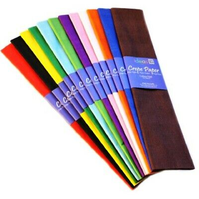 AS LOW AS 99p IDEAL FOR ARTS /& CRAFTS RANGE OF COLOURS 50CM X 3M CREPE PAPER
