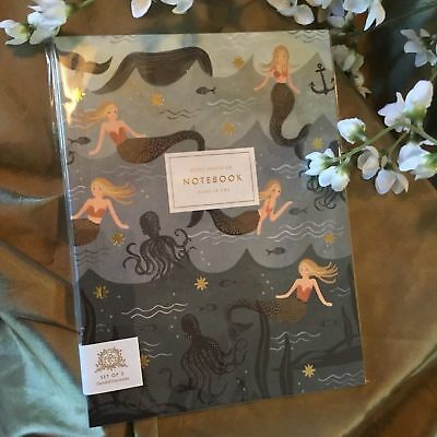 Starbucks Holiday Unlined Notebook Set of 2 Mermaid Siren By RIFLE PAPER Co USA