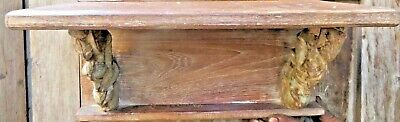 Architectural Carved Wood  bracket reclaimed wall decor display lintel rack
