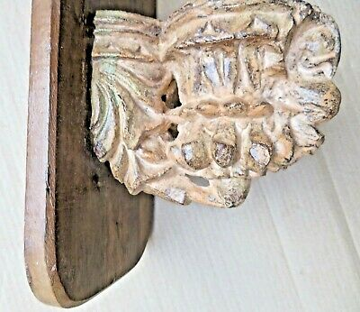 Architectural remnant Carved Wood bird figurine corbel revised wall fixing
