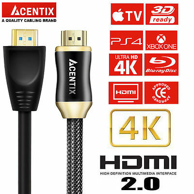 NEW Premium HDMI Cable v2.0 High Speed Gold HDTV UHD HD 2160p 4K@60hz 1M - 30M