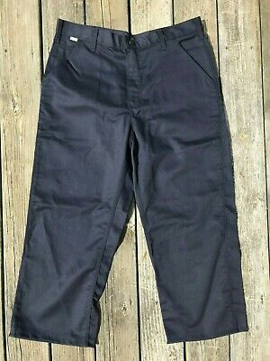 74abcb53f131 Carhartt Flame Resistant Navy Blue Twill Work Pants HRC2 Men s Size 36x32