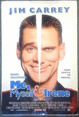 ME, MYSELF & IRENE Orig 2000 DS ONE SHEET Poster 27x40 ROLLED EX - JIM CARREY