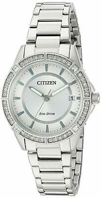 Citizen Eco-Drive Women's FE6060-51A Crystal Accent Stainless Steel 34mm Watch
