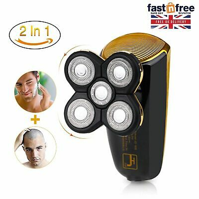 Cordless Electric Rotary Shaver Razor 5-head Wet Dry Rechargeable Men Face Head