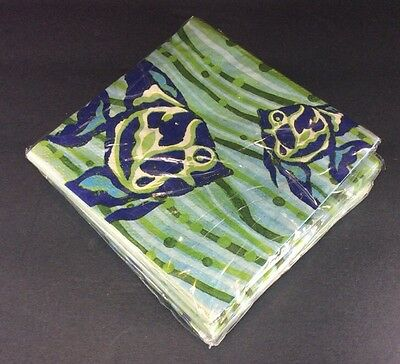 Mud Pie Ocean Fish Sea Napkins Set Of Four Packs NEW