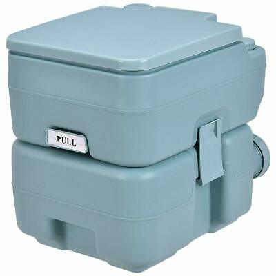 5 Gallon Portable Toilet Flush Travel Outdoor Camping Hiking Toilet Potty (Green