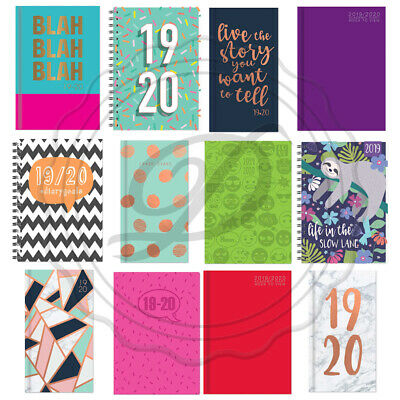 Academic Diaries 2019-2020 - Planner Diary A4/A5 Week To View Mid Year Teacher