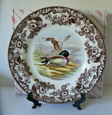 "Spode Woodland MALLARD DUCK 10.25"" Dinner Plate 1st Quality NEW w/Box Hunting"
