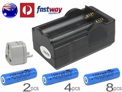 UltraFire Rechargeable 18650 Battery Charger 5300mAh and 3.7v Li-ion 2-8  VA-1