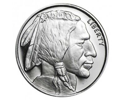 Indian Head/Buffalo silver bullion round- 1 /5oz. fine silver 999