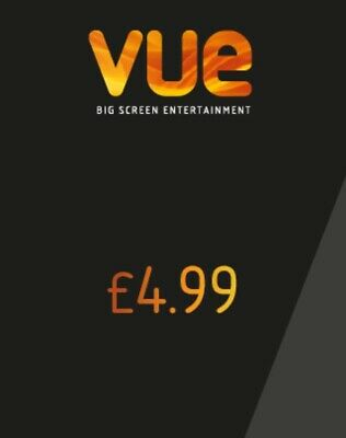 x2 VUE Cinema Adult Tickets for £4.99 each UK - CODES  *INSTANT DELIVERY*