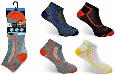 3, 6 or 12 Mens ProHike Trainer Liners Invisible Sports Gym Quality Socks 6-11