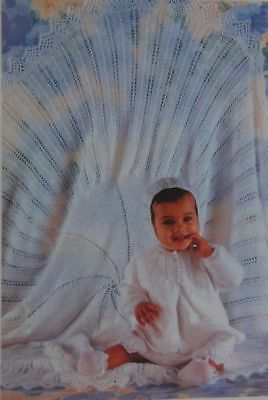 Baby's Layette Shawl, Matinee Coat, Bonnet, Bootees In 3-Ply Knitting Patterns