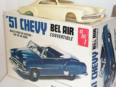 Amt #t272 1/25 1951 Chevy Donor Kit With Resin 2 Door  Hardtop  Body