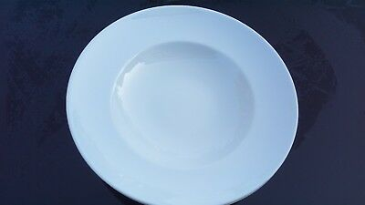Arzberg Two White Porcelain Deep Plates Top Quality, Good Design -German Made